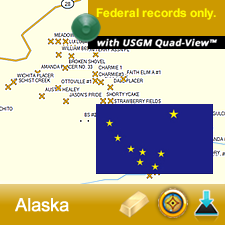 Alaska GPS Gold Map