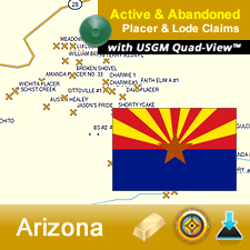 Arizona GPS Gold Map