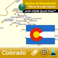 Colorado GPS Gold Map