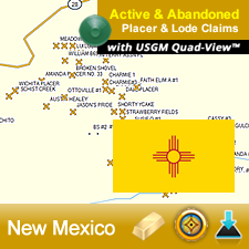 New Mexico GPS Gold Map