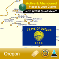 Oregon GPS Gold Map
