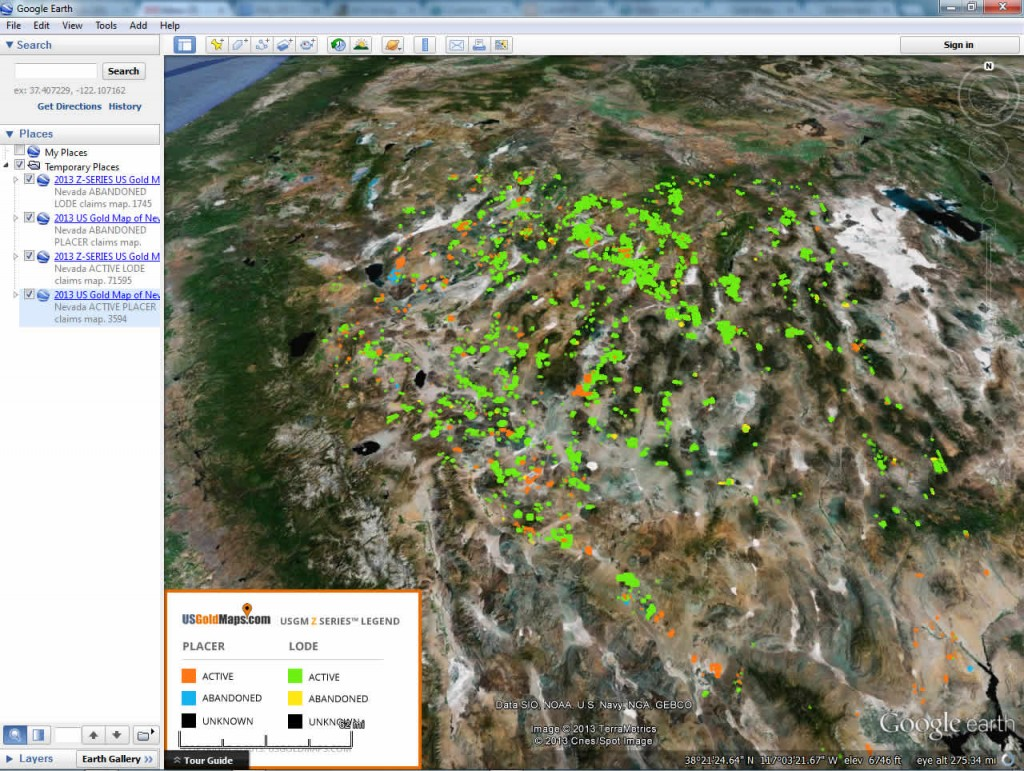 Arizona Gold Maps USGM ZSeries Placer Lode Gold Claims Bundle - Us gold map