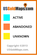 NEW Legend for Active and Abandoned US Gold Claims Map 2013.
