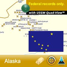 Alaska GPS Gold Map