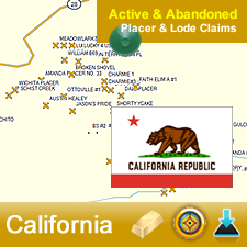 US Gold Maps™ introduces its NEW for 2013 Garmin BaseCamp™ Active & Abandoned Gold Claims Maps.