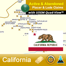 Find gold in California with GPS Gold Maps