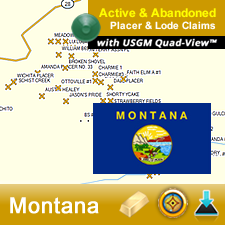 Montana GPS Gold Map
