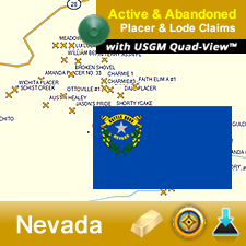 Nevada GPS Gold Map