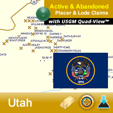 Utah GPS Gold Map