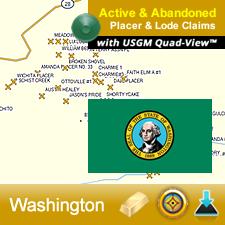 Washington GPS Gold Map