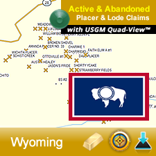 Wyoming GPS Gold Map