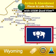 Wyoming GPS Gold Map